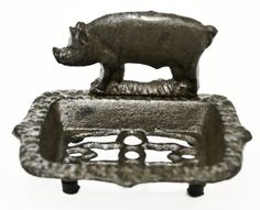 Caffco International Cast Iron Pig Soap Dish