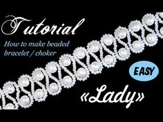 Tutorial: How to make wedding beaded choker / bracelet with pearls [EASY]