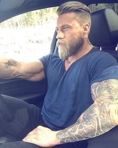 56 Best Viking Beard Style That Perfects Your Style - Gorgeous 56 . - 56 best viking beard style that perfect your style – gorgeous 56 best viking beard style to perfe - Viking Beard Styles, Long Beard Styles, Hair And Beard Styles, Hair Styles, Viking Haircut, Haircut Men, Beard Tattoo, Swag Tattoo, Tattoos
