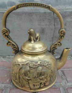 Teapots Unique, Cuppa Tea, Kettles, Iron Decor, Teacups, Antique Dolls, Tibet, Nepal, Wood Art