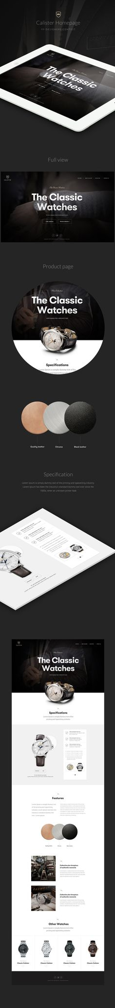 Calister watches on Behance