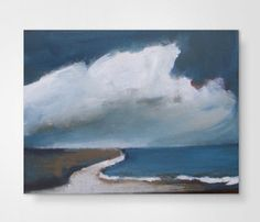 Beach  original acrylic painting  abstract landscape by VESNAsART
