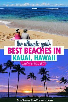 Best beaches in Hawaii are on Kauai! Kauai is a bucket list destination, and the beaches are incredible. This ultimate guide includes best beaches for swimming, snorkeling, paddleboarding… More Destin Beach, Beach Trip, Beach Vacations, Beach Travel, Dream Vacations, Hawaii Travel Guide, Travel Tips, Travel Guides, Travel Photos