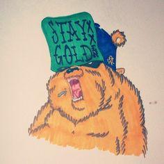 #TEF1 #goldenbear #staygolden #cal #bear #character #14 by iamtef1 via Tumblr