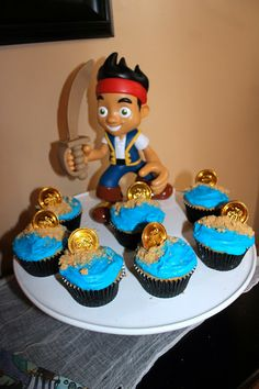 Jake and The Never Land Pirate Cupcakes
