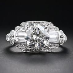1.93 Carat Art Deco Diamond Ring – Vintage Diamond Engagement Rings – Vintage…