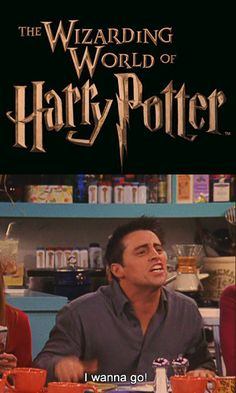 Friends and Harry Potter!! Perfect!