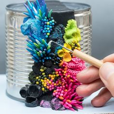 Discarded Objects are Beautified with Colorful Coral-Like Growths by Stephanie Kilgast | Colossal
