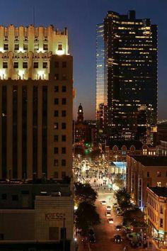 The plaza.   Fort Worth