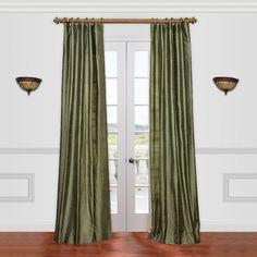 Half Price Drapes Textured Dupioni Silk Single Curtain Panel & Reviews | Wayfair