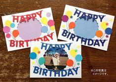 写真が見える窓開きハッピーバースデーカード 誕生日カード(赤文字) Diy Paper, Paper Art, Diy And Crafts, Arts And Crafts, Birthday Cards, Happy Birthday, Thank You Letter, Craft Projects, Presents