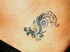 Dragon tattoo_ love how small yet detailed. I like the feminine touch without it…