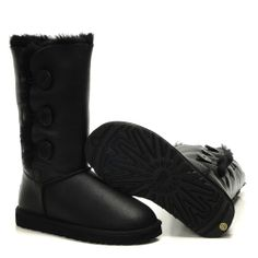 UGG 1873 Bailey Button Triplet Metallic Black Boots On Sale - UGG Boots Christmas Sale,All UGG Boots are Save Up to 70% Clearance Sale!