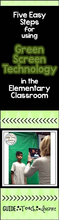 Green Screen in the Classroom – Five Easy Steps! – Michelle Dech Green Screen in the Classroom – Five Easy Steps! Are you looking for a simple way to use green screen technology in your elementary classroom? Well, recently I took on this task, and I f… Teaching Technology, Technology Integration, Teaching Tools, Educational Technology, Teaching Resources, Technology Management, Technology Lessons, Teaching Ideas, Library Activities
