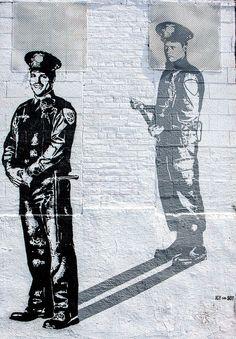 Icy and Sot at NY st. Murals Street Art, 3d Street Art, Amazing Street Art, Graffiti Art, New York Street Art, Protest Art, Political Art, Sidewalk Chalk, Men In Uniform