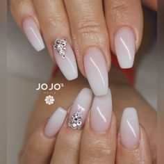 French Fade Nails | Babyboomer | Ombré | Swarovski Crystals | www.youtube.com/JoWickens | www.facebook.com/JoWickens | www.instagram/jojosnails | www.twitter.com/jojosnails | www.jojosnails.com