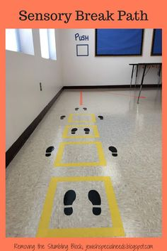A Sensory Break Path to Fit Your Space Designing a Sensory Break Path; Removing the Stumbling BlockDesigning a Sensory Break Path; Removing the Stumbling Block Sensory Motor, Gross Motor Activities, Movement Activities, Work Activities, Sensory Activities, Sensory Wall, Sensory Rooms, Sensory Boards, Sensory Room Autism