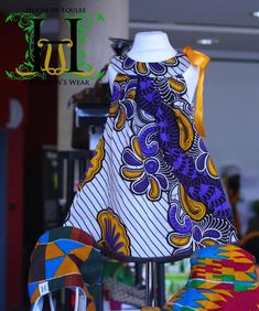 Swirly Ribbon Dress #Handmade from www.houseofloulee.co.uk #African print dress