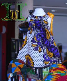 Swirly Ribbon Dress #Handmade from www.houseofloulee.co.uk  #African print dress