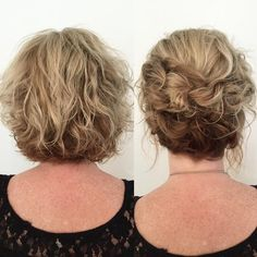 30 quick and easy hairstyles for every hair length - Haar-Tutorial einfach - Hochsteckfrisur Short Wavy Hair, Short Wedding Hair, Short Curly Hair Updo, Short Hair Updos Tutorial, Short Undercut, Hairstyle Short, Short Pixie, Curly Bob, Five Minute Hairstyles