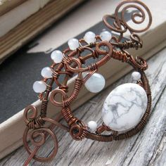 Wire Wrapped Shawl Pin