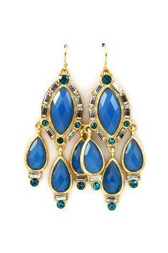 Freya Chandelier Earrings in Cerulean