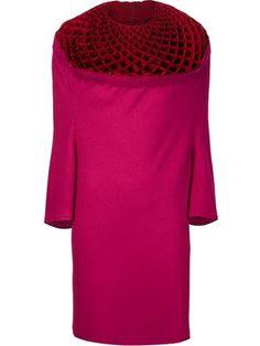 textured collar dress