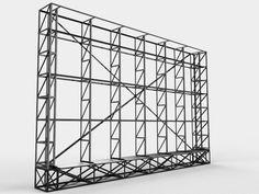 Diseño de estructura para pantallas LED. Bs.As.