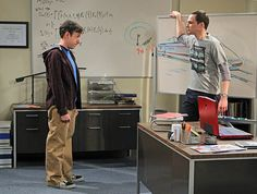 Still of John Ross Bowie and Jim Parsons in The Big Bang Theory