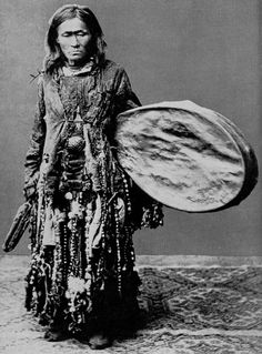 Female Orochon shaman from Northern Manchuria. Pic from Lissner - Man, God and Magic