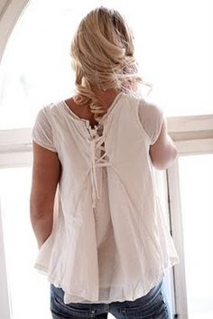 love this for making a large shirt smaller or just creating a flowy back...