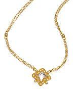 Belargo Gold CZ Marquis Star Pendant Necklace