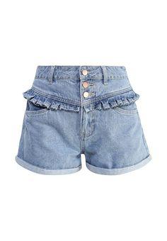 Джинсовые шорты MOM SHORT WITH FRILL YOKE от LOST INK выполнены из плотного денима. Детали: застежка на пуговицы, шлевки, карманы.