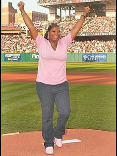 Queen Latifah, a beautiful plus size woman, who seems to be so down to earth!