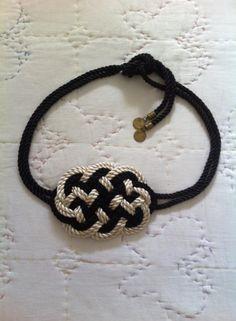 Cinturón de cordon de seda combinado