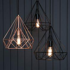 NEW Black Geo Light Cages - add them to hour festoon lights..   PWE X