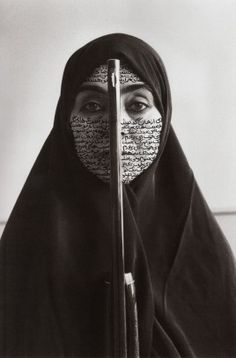 Shirin Neshat, Women of Allah, poetry written in arabic on skin