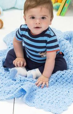 One-Ball Baby Blanket Free Crochet Pattern from Red Heart Yarns