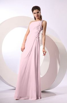 Simple Sheath Sleeveless Chiffon Floor Length Sequin Bridesmaid Dresses
