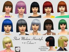° STATUS tested - somewhat odd - TSR / Cocobuzz's Short Modern Hairstyle