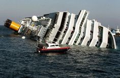 A Carabinieri boat approaches the luxury cruise ship Costa Concordia that ran aground the tiny Tuscan island of Giglio on Saturday National Geographic, Costa, Italy Coast, Abandoned Ships, Accident Attorney, Shipwreck, Concorde, Palermo, World