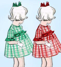 1960s Vintage Mail Order Sewing Pattern 1-410 Toddler Girls Flared Dress Size 4 #MailOrderPattern #DressPattern