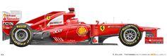 Nascar, Stock Car, Car Prints, Blue Prints, Ferrari Scuderia, New Ferrari, Formula 1 Car, Alonso, Victoria