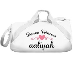 Aaliyah. Dance princess  | Great dance bag for all. Excellent quality, great colors to choose from and you can even customize it yourself to be your very own.