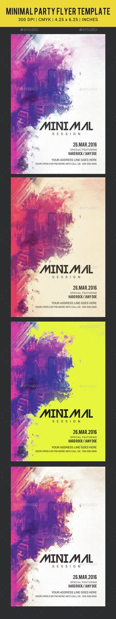 Abstract Electro Flyer Design  Cleanses Concerts And Abstract