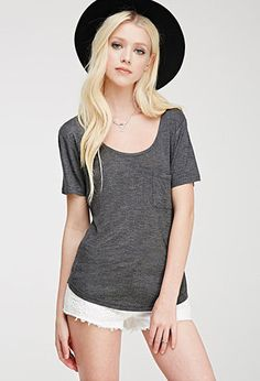 Short Sleeve #1, Charcoal, Forever21 (IN CLOSET