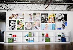 Chic Critique | Wall Gallery Inspiration | Supplies and Storage | Industrial | Colorful and Creative