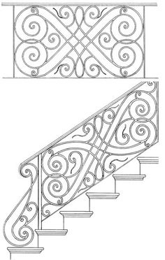 Stair Railing Designs ISR044