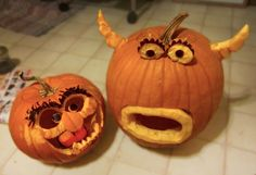 Our Muppet Pumpkins by brookeduckart, via Flickr