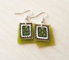 Hand painted shrinking plastic earrings | Flickr - Photo Sharing!